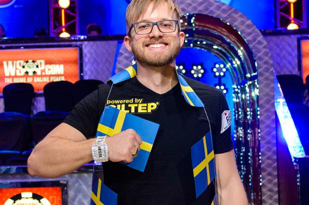 Martin Jacobson – The WSOP 2014 Winner Posing for a photo shortly after the event