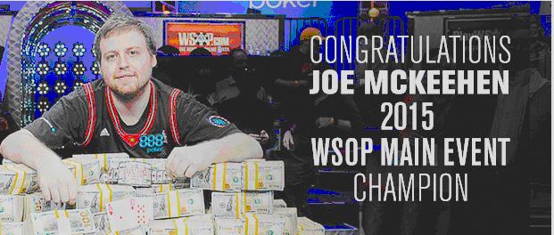 Joe McKeehen – the WSOP 2015 winner